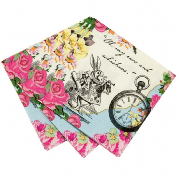 Alice in Wonderland, Truly Alice Paper Napkins - pack of 20